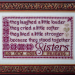 Sisters Together on silk gauze | Original counted thread designs by Linda Stolz for Erica Michaels Designs | EricaMichaels.com